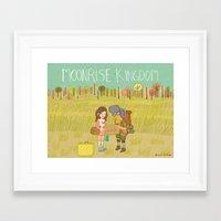 moonrise kingdom Framed Art Prints featuring 'Moonrise Kingdom' by Nicola Colton illustration