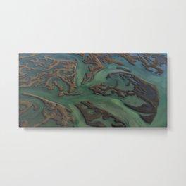 Intracoastal Waterway Marsh Maze Metal Print