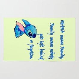 Lilo & Stitch - Ohana Quote Rug