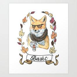 Basic fox Art Print