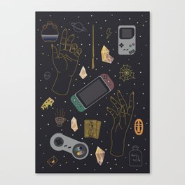 Gamer Witch Starter Kit Canvas Print