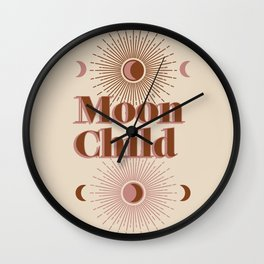 Vintage Moon Child Wall Clock