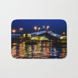 Raising bridges in St. Petersburg Bath Mat