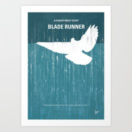 No011 My Blade Runner minimal movie poster Art Print