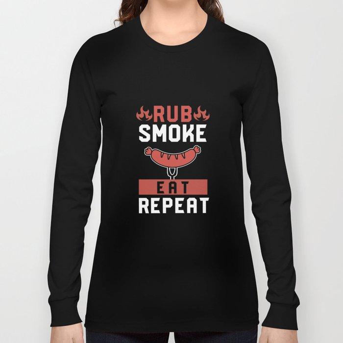 Meat BBQ grill man steak pork Long Sleeve T-shirt