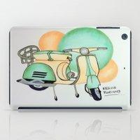 vespa iPad Cases featuring Vespa  by Melissa Rodriguez