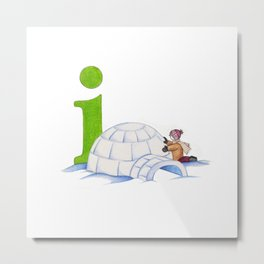 i is for igloo Metal Print