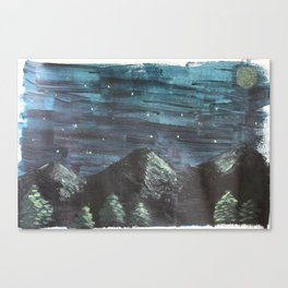 Camping in the High Uintas Canvas Print