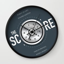 The Score - Alternative Movie Poster Wall Clock