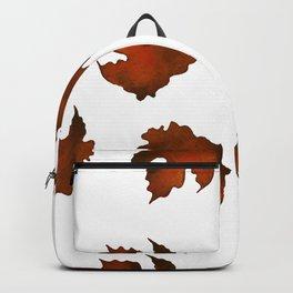 Brown dried leaves Backpack