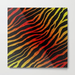 Ripped SpaceTime Stripes - Yellow/Red Metal Print