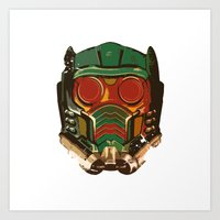star lord Art Prints featuring Star Lord by R. Cuddi