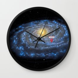 You are here: Milky Way map, Earth Wall Clock