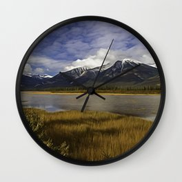 Walking with her head in the clouds Wall Clock