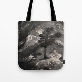 The Last Tree - black and white Tote Bag