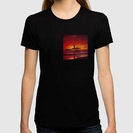 The End Of The Huntington Beach Pier T-shirt