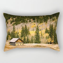 LITTLE CABIN IN THE WOODS Rectangular Pillow