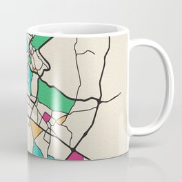 Colorful City Maps: Amman,Jordan Coffee Mug