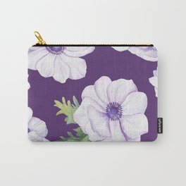 Anemones Purple #society6 #buyart Carry-All Pouch