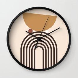 Minimal Rainbow Balance Wall Clock