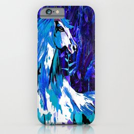 HORSE INDIGO BLUE AND DRAGONFLY NIGHTS iPhone Case