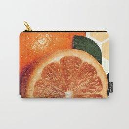 Tropical Print - Orange, Grapefruit, Tangerine - Modern Wall Art Print - Tropical Poster Carry-All Pouch