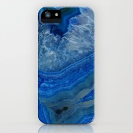 blue agate crystals iPhone Case