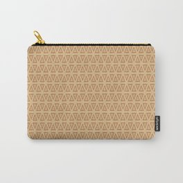 Triangle Gold and Burgundy Pattern Carry-All Pouch