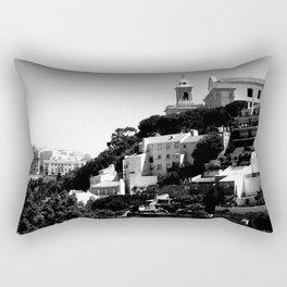 Portugal Hills, Lisbon | Black & White Rectangular Pillow