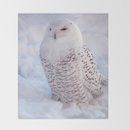 Harfang des neiges Throw Blanket