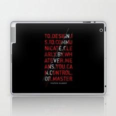 To Design by Milton Glaser Laptop & iPad Skin