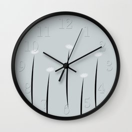 Abstract Tiny Flowers Daisies Wall Clock