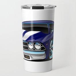 Classic American Muscle Car Cartoon Travel Mug