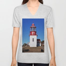 Lighthouse Cap-Chat Quebec Unisex V-Neck