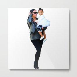 Kim and North Metal Print
