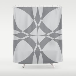 Abstract Circles - Gray Shower Curtain
