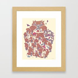 The orchard is such a very silly place Framed Art Print
