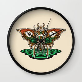 Cosmic Insect - Light Wall Clock
