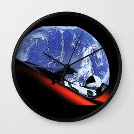 SpaceX Oddity Cars Wall Clock