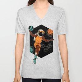 space Basketball Unisex V-Neck