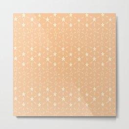 Stars and Stripes in Soft Orange Metal Print