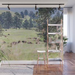 Where the Buffalo Roam - Nature Photography Wall Mural