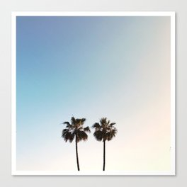 two palm trees - Santa Monica, CA Canvas Print