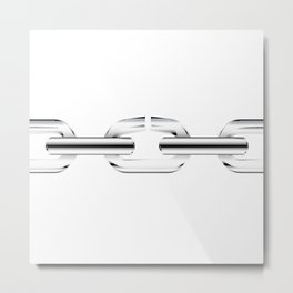 The Broken Link Metal Print