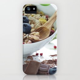 Fine sweet breakfast with fresh fruits iPhone Case