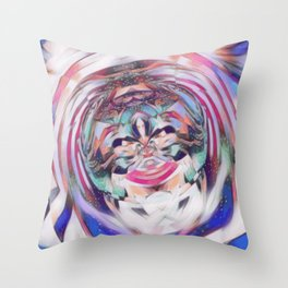 Rippling Light Wave Throw Pillow
