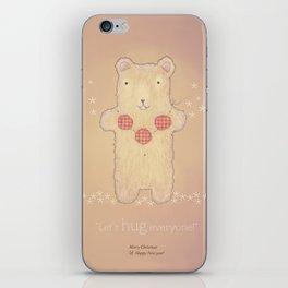 Christmas creatures- The Loving Bear iPhone Skin