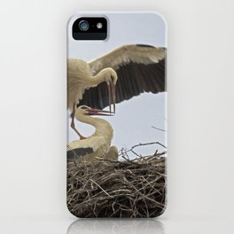 Storks in a Nest iPhone Case