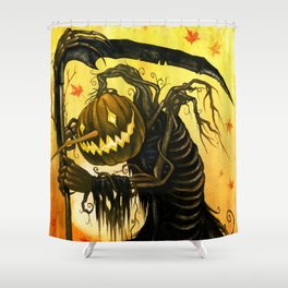 Autumn Harvester Shower Curtain