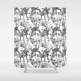 Fetching Florals Shower Curtain